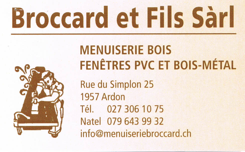 Broccard menuiserie