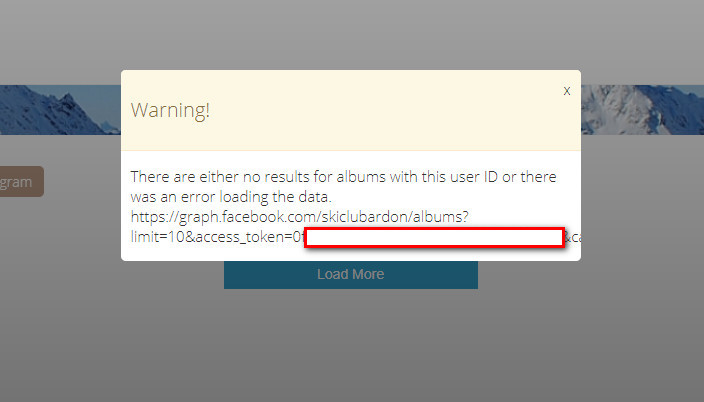 JUX Community :: Topic: Popup warning on Instagram and